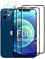 cheap -[4 pack] compatible with iphone 12 screen protector tempered glass + camera lens protector hd protective film for iphone12 5g 6.1 inch 2020