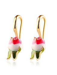 cheap -Women's Drop Earrings Classic Petal Stylish Earrings Jewelry Gold For Anniversary Gift Date Festival 1 Pair