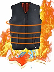 cheap -lightweight heated vest, 5v usb charging warm vest for outdoor camping hiking golf, washable heated clothes built-in 5 pcs heating therapy pad fits men and women
