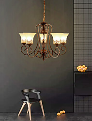 cheap -5-Light 68 cm Candle Style Chandelier Metal Glass Painted Finishes Vintage 110-120V / 220-240V / E26 / E27