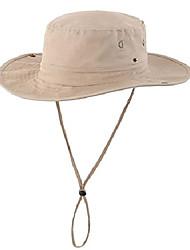cheap -women sun protection hat outdoor breathable cotton wide brim beach hat with strap dark khaki