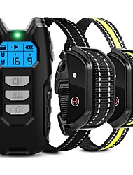 cheap -Dog Training Anti Bark Device Shock Collar For Dogs With Remote Remote Controlled Adjustable Electronic 2 Receiver Rechargeable Dog Shock Collar 3 Modes Beep Vibration Dog Pets Waterproof Rechargable