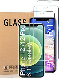 cheap -compatible with iphone 12 screen protector, tempered glass screen protector for iphone 12 pro 6.1 inch [3-pack]