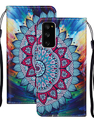 cheap -Case For Samsung Galaxy S20 Plus / S20 Ultra / S20 Shockproof Full Body Cases Flower PU Leather / TPU