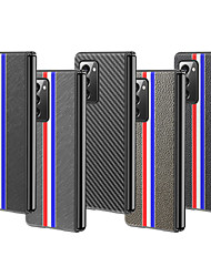 cheap -Phone Case For Samsung Galaxy Back Cover Leather Galaxy Z Fold 2 Shockproof Solid Color PU Leather
