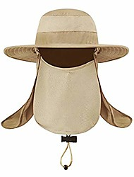 cheap -summer sun caps for men breathable wide brim sun uv protection fishing cap khaki