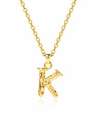 cheap -dainty initial necklace 14k gold plated personalized letter k pendant necklace for women girls