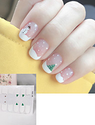 cheap -1pcs Autumn/Winter Christmas Nail Sticker Girl Nail Sticker Waterproof Tearable Easy-to-Use Cheap Nail Sticker