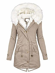 cheap -womens hooded warm winter thicken fleece lined parkas long coats (y4, xxx-large)