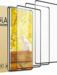 cheap -3 Pack HD Galaxy s20 fe S20 S10 S10 lite screen protector, [support fingerprint unlock] [3d full edge covered] [9h hardness] [anti-dirty] friendly tempered glass film ,for samsung galaxy s20 fe 5g