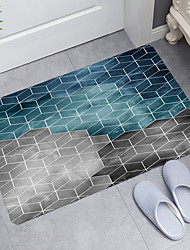 cheap -Four-Color Grid Digital Printing Floor Mat Modern Bath Mats Nonwoven  Memory Foam Novelty Bathroom