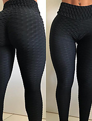 cheap -Women's High Waist Running Tights Leggings Athletic Bottoms Winter Yoga Fitness Gym Workout Running Exercise Butt Lift Breathable Soft Sport Solid Colored White Black Red Dark Red Pink Orange
