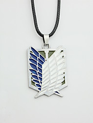 cheap -supfans anime attack on titan necklace wings of freedom pendant &
