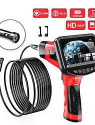 cheap -8.5 mm endoscope high definition camera auto repair engine industrial pipe hand-held 4.3-inch one-screen dual-lens electronic air conditioning channel hard wire 1m with 32G TF card