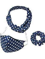 cheap -women headband hair hoop facial protect set suit yoga hair band sports face wash headband