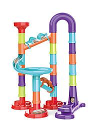 cheap -45pcs Large Particle Ejection Maze Diy Changeable Slide Ball Building Blocks Children's Educational Toys
