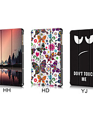 cheap -Case For Huawei Tablets MatePad T8 Shockproof Full Body Cases Butterfly / Scenery / Cartoon PU Leather / TPU