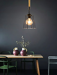 cheap -1-Light 15 cm Pendant Light Hemp Rope Painted Finishes Traditional / Classic / Country 220-240V