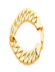cheap -lifetime jewelry 11mm flat cuban link chain bracelet for men & women 24k gold plated, 9 inches
