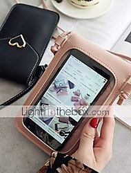 cheap -touch screen phone pu leather for women bag,mini crossbody mobile phone shoulder bag,lightweight buckle anti thefttouch adjustable long strap convenient crossbody