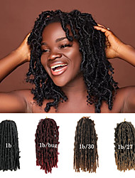 cheap -Ombre Hair Weaves / Hair Bulk Crochet Hair Braids Dreadlocks / Faux Locs Curly Box Braids Black Multi-color Synthetic Hair Braiding Hair 20 Roots / Pack