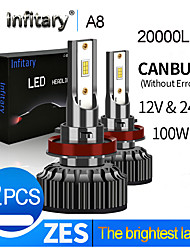cheap -Infitary 20000lm Super Bright Canbus Error Free for 12V 24V H4 LED H13 9004 9007 LED Car Headlight Truck Bulb Fog Lights Lamp