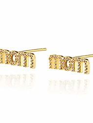 cheap -18k gold plated letter earrings for women hypoallergenic fashion cubic zirconia letter initial studs earrings for men