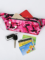 cheap -Unisex Bags Oxford Cloth Polyester Fanny Pack Camo / Camouflage Daily Outdoor 2021 Black Blue Fuchsia Khaki