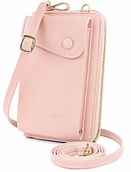 cheap -women crossbody phone bag pu leather phone purse wallet small phone cross body bag mini cell phone bag with adjustable strap and card slots (pink)