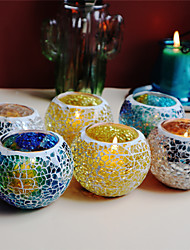 cheap -Mosaic Candle Cup Candlelight Dinner Decoration