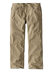 cheap -men's 5-pocket stretch twill pants, desert khaki, 32, inseam: 30 inch