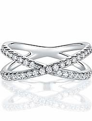 cheap -18k rhodium plated x ring cubic zirconia criss cross ring for women (6)