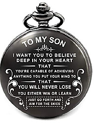 cheap -son gifts from mom dad for birthday valentines graduation fathers day christmas, engraved pocket watch for sons (to my son)