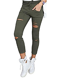 cheap -womens stretchy faded ripped slim fit skinny jeggings trousers ladies pants (x-large, khaki)