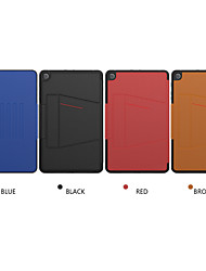 cheap -Case For Samsung Galaxy Tab A8(2019)P200/205 Shockproof Full Body Cases Solid Colored PU Leather / TPU / PC