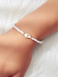 cheap -Women's Bead Bracelet Beads Fashion Ethnic Boho Acrylic Bracelet Jewelry White For Festival