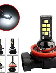 cheap -2 Pcs Car Fog Lamp H11 H1 H3 H7 9005 9006 H4 H8 Led Canbus Car Led Fog Light Bulb White Light Auto Leds Bulbs Car Light 4.2W 3030SMD