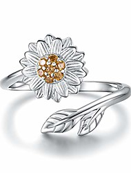 cheap -sunflower cremation ring - 925 sterling silver adjustable jewelry you are my sunshine daisy