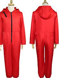 cheap -Joker Cosplay Costume Men's Women's Boys' Movie Cosplay Red Leotard / Onesie Halloween Cotton / Polyester Blend