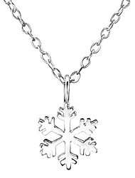 cheap -.925 sterling silver 18 inch snowflake pendant necklace for children
