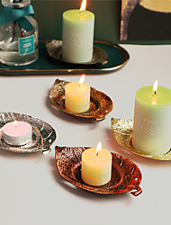 cheap -Retro Style Leaf Shape Candle Holder Candle Tray