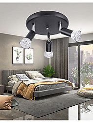 cheap -Round 3-Head Ceiling Spotlights LED Ceiling Lamps Ceiling Cabinets Open Mirror Adjustable GU10 Spotlights