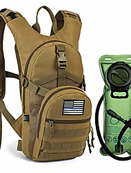 cheap -tactical molle hydration backpack with 2l bpa free water bladder keeps water cool up to 4 hours, lightweight military daypack for cycling, hiking, running, climbing, hunting, biking