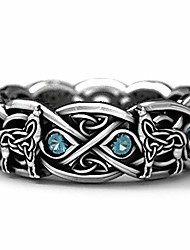 cheap -men's ring stainless steel creative retro wolf totem ring for men cross line braided finger topaz punk ring european and american trend punk jewelry best gift for husband father's day (11)