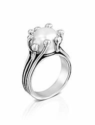 cheap -paz creations 925 sterling silver 10mm classic white natural freshwater cultured pearl ring for women (9)