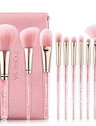 cheap -Professional Makeup Brushes 10pcs Soft Full Coverage Artificial Fibre Brush Plastic for Makeup Brush