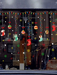 cheap -Christmas Decorations Holiday Wall Stickers Holiday Wall Stickers Decorative Wall Stickers PVC Home Decoration Wall Decal Wall Window Decoration 1pc
