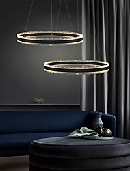 cheap -1-Light 60 cm Creative / Adjustable / Dimmable Chandelier Aluminum Acrylic Circle / Geometrical / Novelty Painted Finishes Contemporary / LED 110-120V / 220-240V