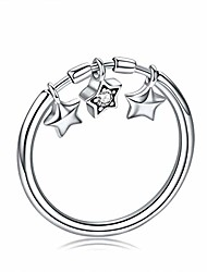 cheap -925 sterling silver fashion sparkling dangle star finger rings for women wedding engagement ring jewelry (8)
