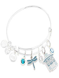 cheap -gilmore girls, stars hollow multi charm bangle bracelet shiny silver one size
